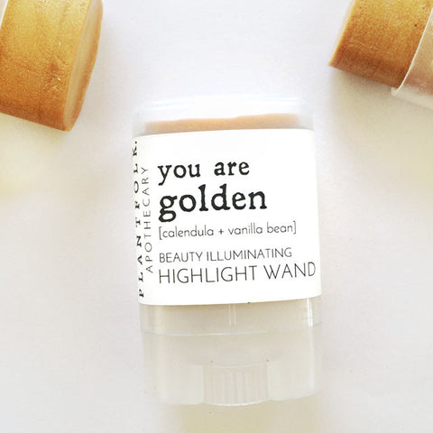YOU ARE GOLDEN <br>HIGHLIGHT WAND<br>[ calendula + vanilla bean ]
