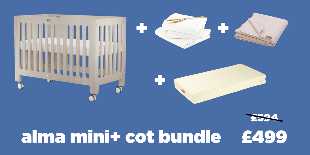 alma mini + cot bed bundle