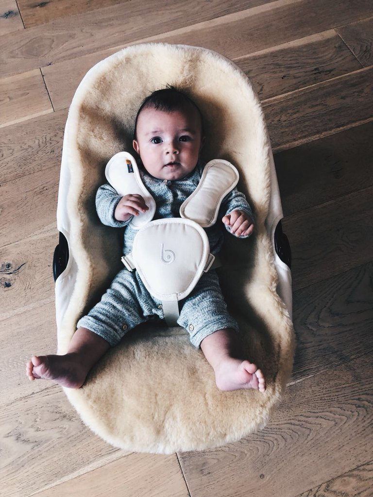 coco go all white bouncer + wooly gift set