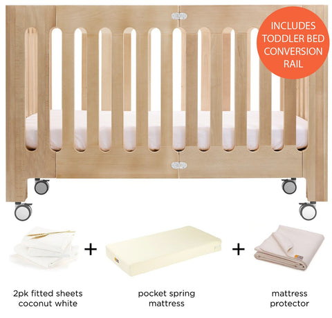 alma max cot-bed & toddler rail bundle