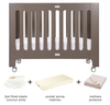 alma papa cot & toddler bed bundle - frost grey special
