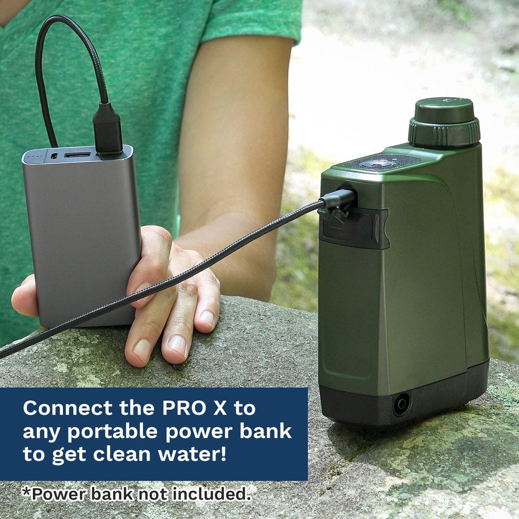 PRO X - World's First Handheld Portable Electric Survival Water Filter™ - Survivor Filter