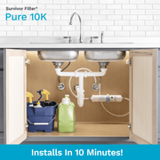 SURVIVOR FILTER™ Pure 10K, Chlorine In-Line Home Filter - Survivor Filter