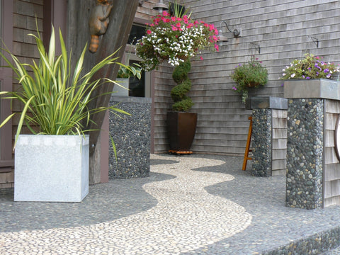 River Rock pebble tile outdoor patio flooring from Beyond Tile