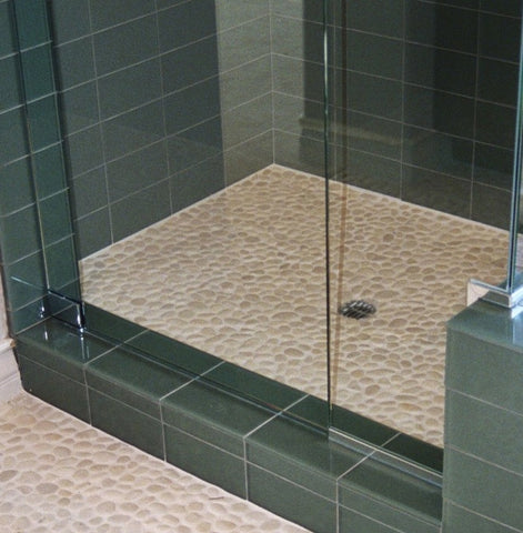 How To Choose A Pebble Tile For A Shower Floor Beyond Tile