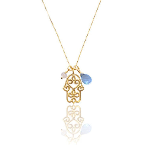 Hamsa Necklace • Gold Vermeil - Beyond Tile