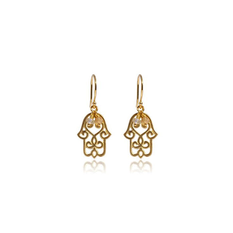 Hamsa Earrings • Gold Vermeil - Beyond Tile
