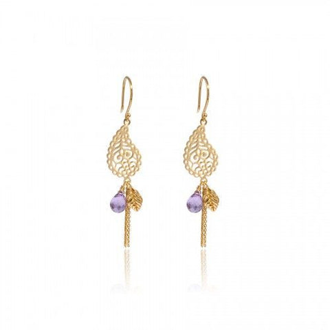 In Love with Life Earrings • Amethyst • Gold Vermeil - Beyond Tile
