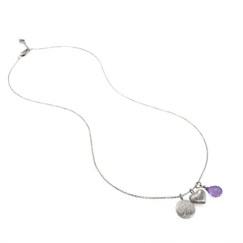 Celebration of Life Necklace • Amethyst • Silver - Beyond Tile