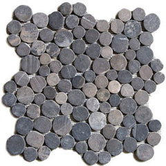 Black Circle Pebble Tile - Beyond Tile