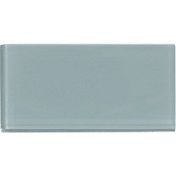 Blue Gray 3x6 Subway Glass Tile - Beyond Tile  - 1