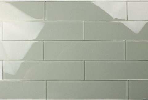 Eucalyptus 3X12 Subway Glass Tile - Beyond Tile
