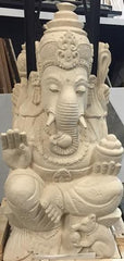 Hand Carved Ganesha Stone Statue - Beyond Tile