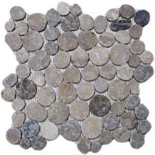 Grey Circle Pebble Tile - Beyond Tile