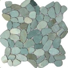 Green Sliced Pebble Tile - Beyond Tile