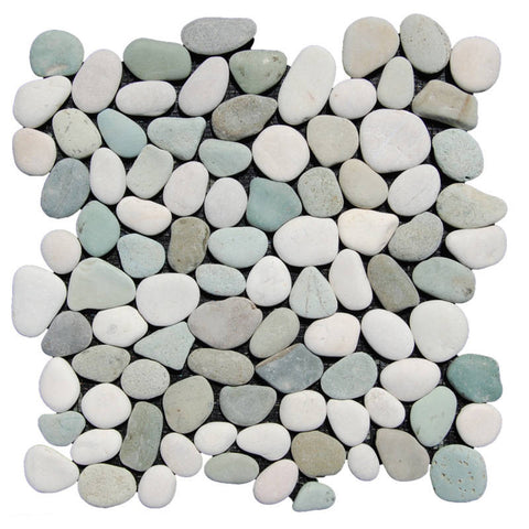 Green and White Pebble Tile - Beyond Tile  - 1