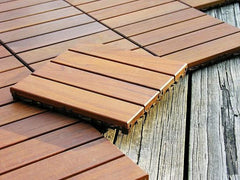 12x12 Wood Deck Tile - Beyond Tile  - 1