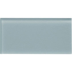 Matte Blue Gray 3x6 Subway Glass Tile - Beyond Tile