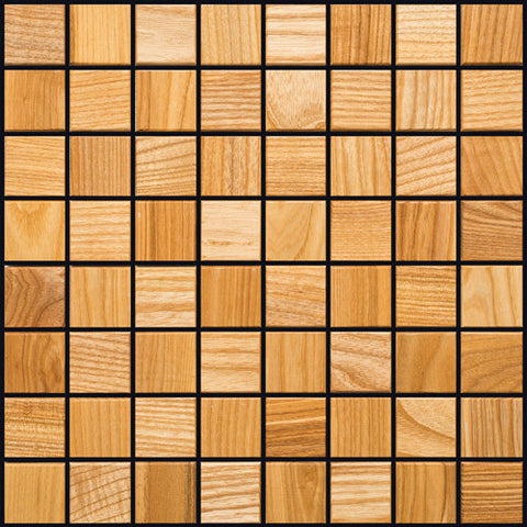 Ash Wood Mosaic Tile - Beyond Tile