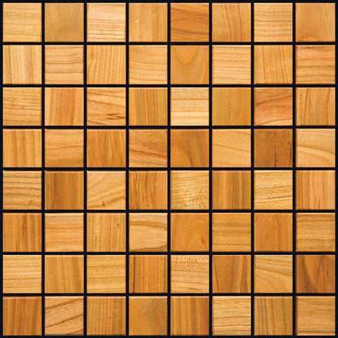 Cherry Wood Mosaic Tile - Beyond Tile