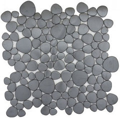 Black Pebble Stainless Steel Tile - Beyond Tile  - 1