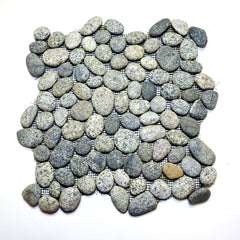 Speckled Gray Pebble Tile from Beyond Tile