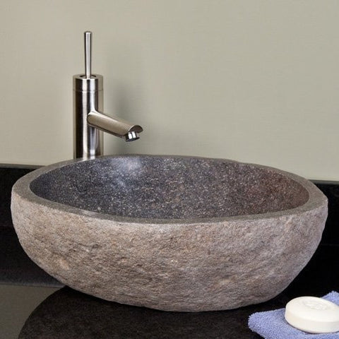 Small Stone Bathroom Sink - Beyond Tile - 2