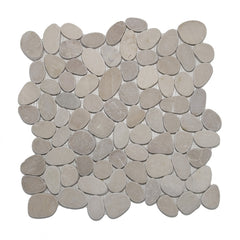 Tan Sliced Pebble Tile - Beyond Tile