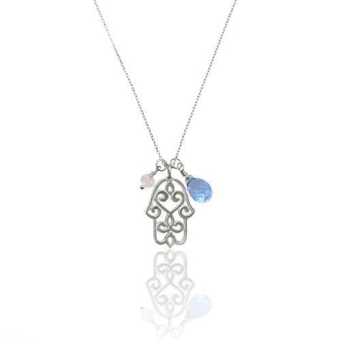 Hamsa Necklace • Silver - Beyond Tile