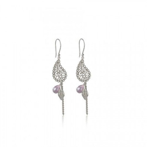 In Love With Life Earrings • Amethyst Silver - Beyond Tile