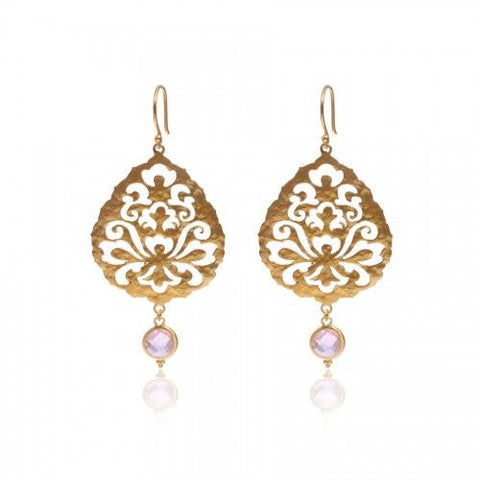 Souldance Earrings • Rose Quartz • Gold Vermeil - Beyond Tile