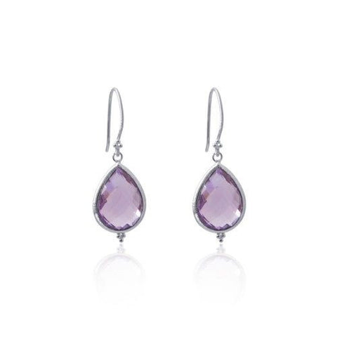 Amma Earrings • Amethyst • Silver - Beyond Tile