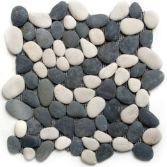 White and Black Pebble Tile - Beyond Tile  - 1