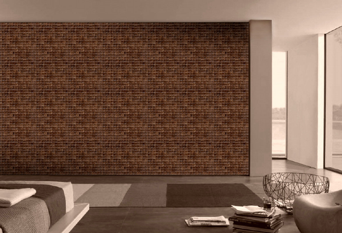 Timor coconut tile wall covering