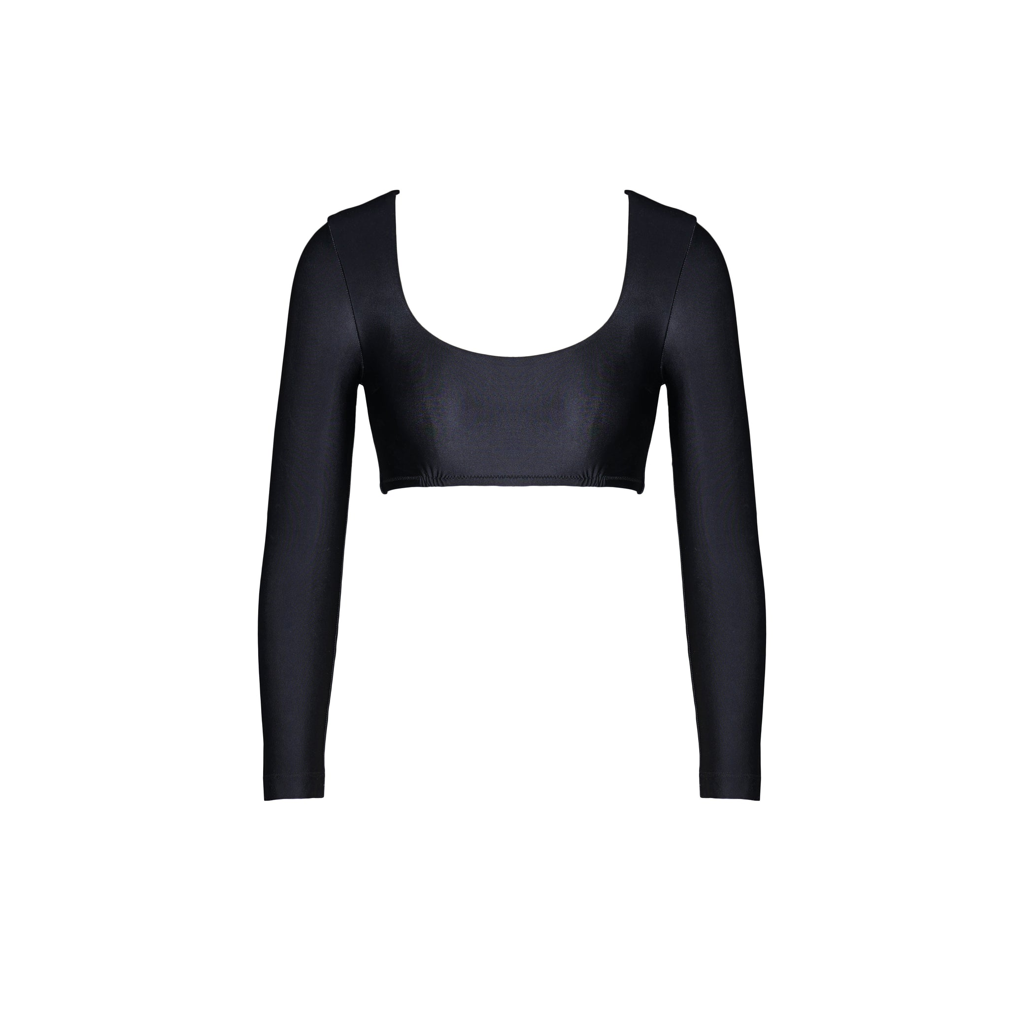 Helen Long Sleeved Swim Top - Black