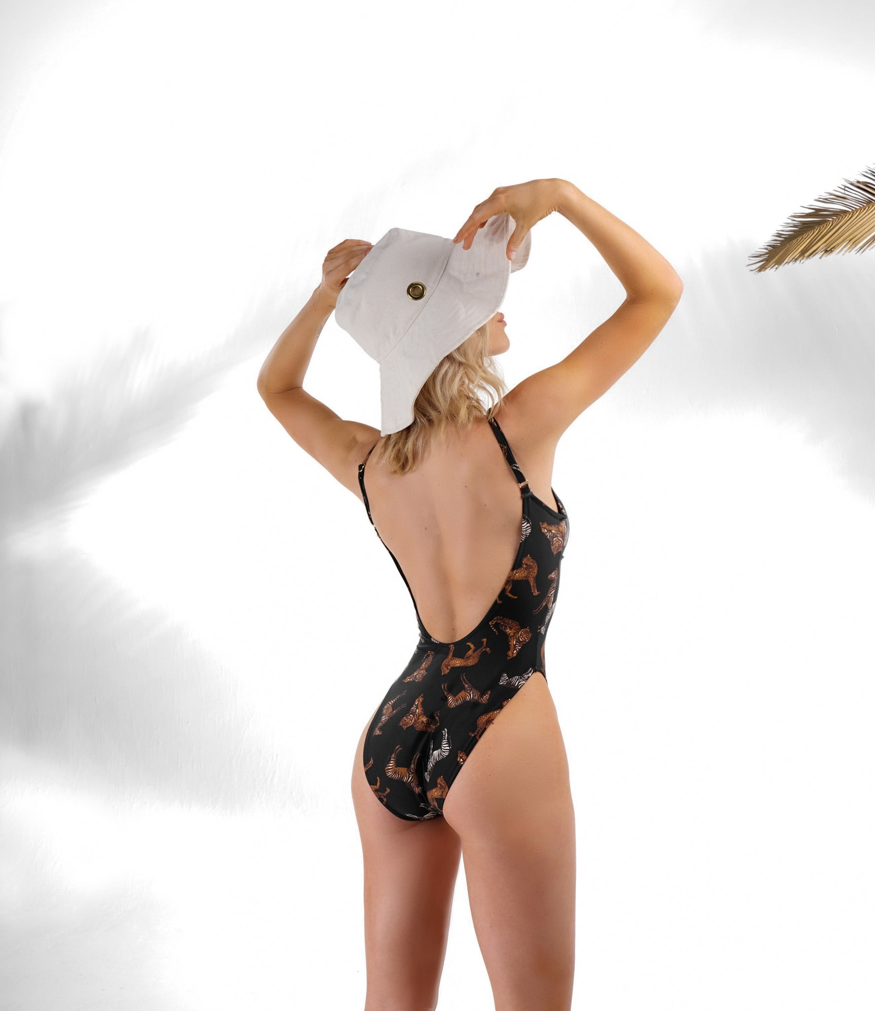 DIANA ZOO ANIMAL PRINT LOW BACK ONE PIECE SWIMSUIT