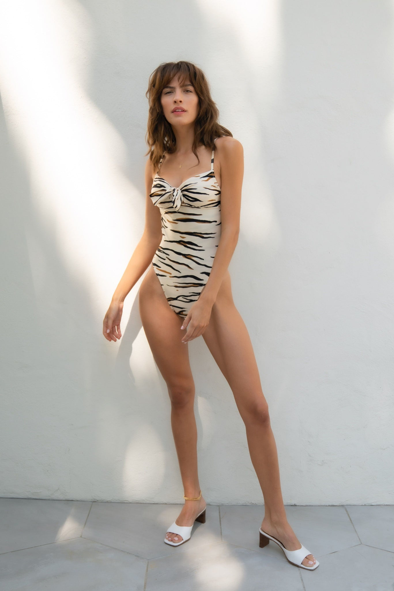 TIGER ANIMAL LE TIGRE PRINT ONE PIECE LOW BACK SWIM