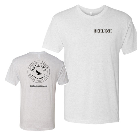 Beeline Unisex Track Tee (Heather White)