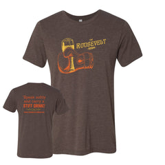 The Roosevelt Room Unisex Track Tee (Brown)