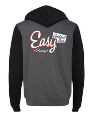 Easy Bar Unisex Hooded Sweatshirt (Grey/Black)