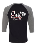 Easy Bar Unisex Three-Quarter Sleeve (Black)
