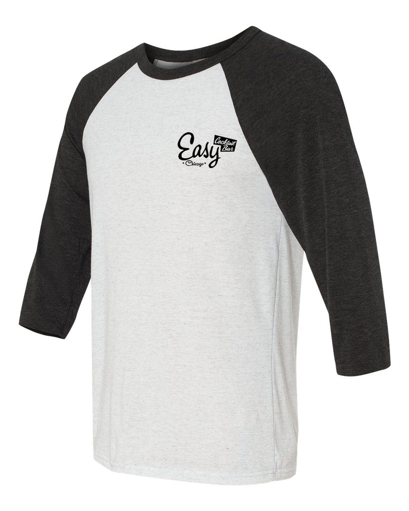 Easy Bar Unisex Three-Quarter Sleeve (White Fleck)
