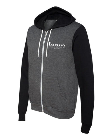 Estelle's Unisex Hooded Sweatshirt (Grey/Black)