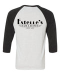 Estelle's Unisex Three-Quarter Sleeve (White Fleck)