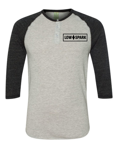 Low Spark Raglan Henley (Black)
