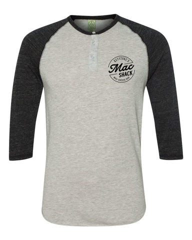 The Mac Shack Raglan Henley (Black)