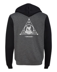 The Owl Unisex Hooded Sweatshirt (Grey/Black)