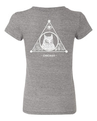 The Owl Women's Short Sleeve Tee (Grey)