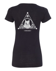 The Owl Women's Short Sleeve Tee (Black)