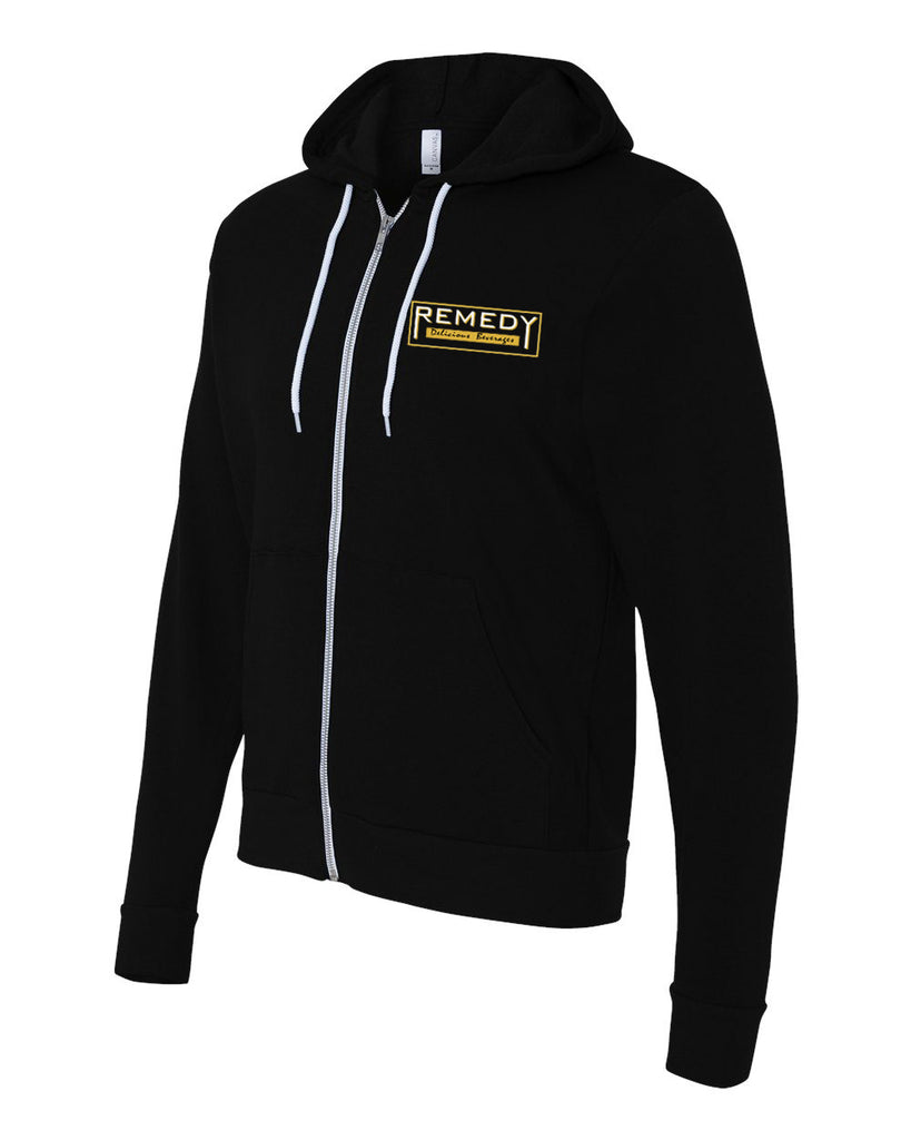 Remedy Unisex Hooded Sweatshirt (Black)